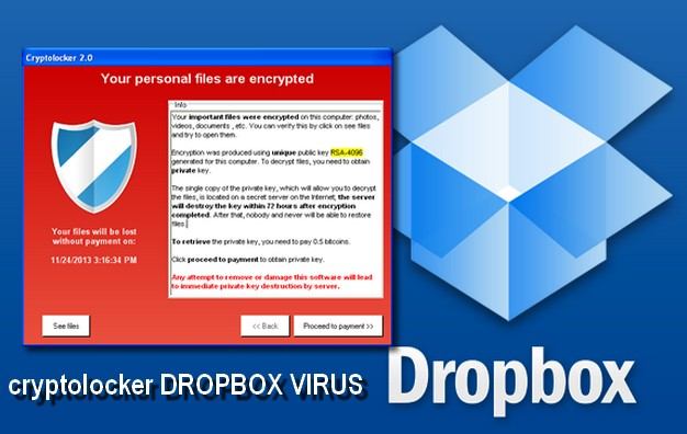 cryptolocker DROPBOX VIRUS