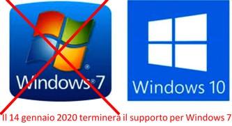 Il 14 gennaio 2020 terminerà il supporto per Windows 7  assistenza pc padova