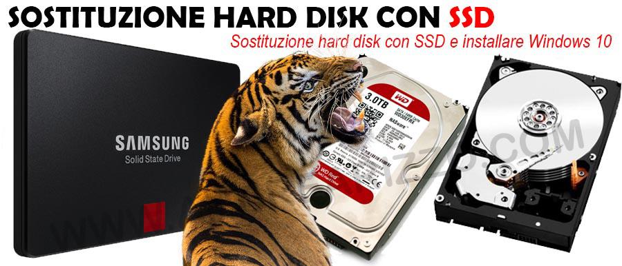 Sostituire hard disk con SSD padova