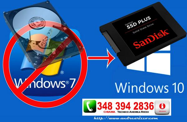 Windows 10 su disco SSD! aumentando le prestazioni del 300%