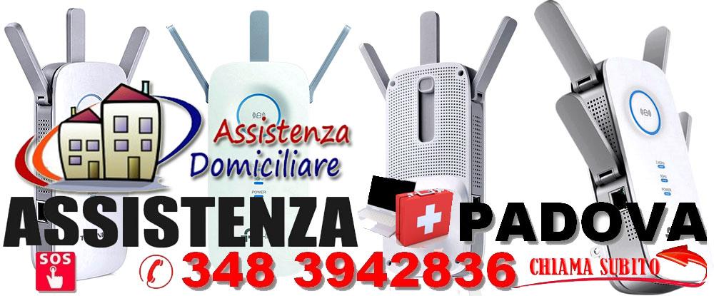 Assistenzaa domicilio in tutta PADOVA configurazione modem, router, lineaadsl wifi wireless access point extender PADOVA